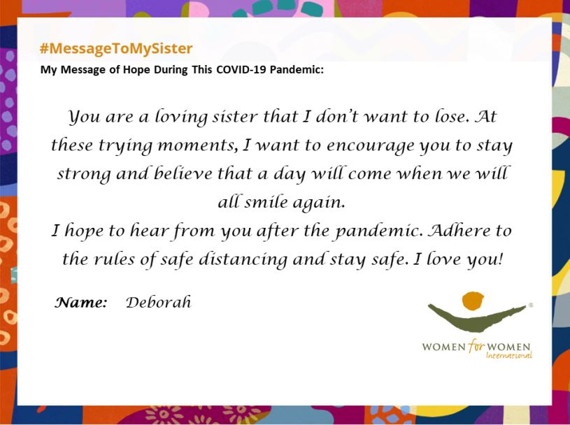 Message from Deborah in Nigeria