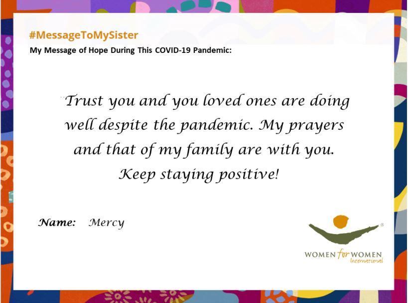 #MessageToMySister from Merch in Nigeria