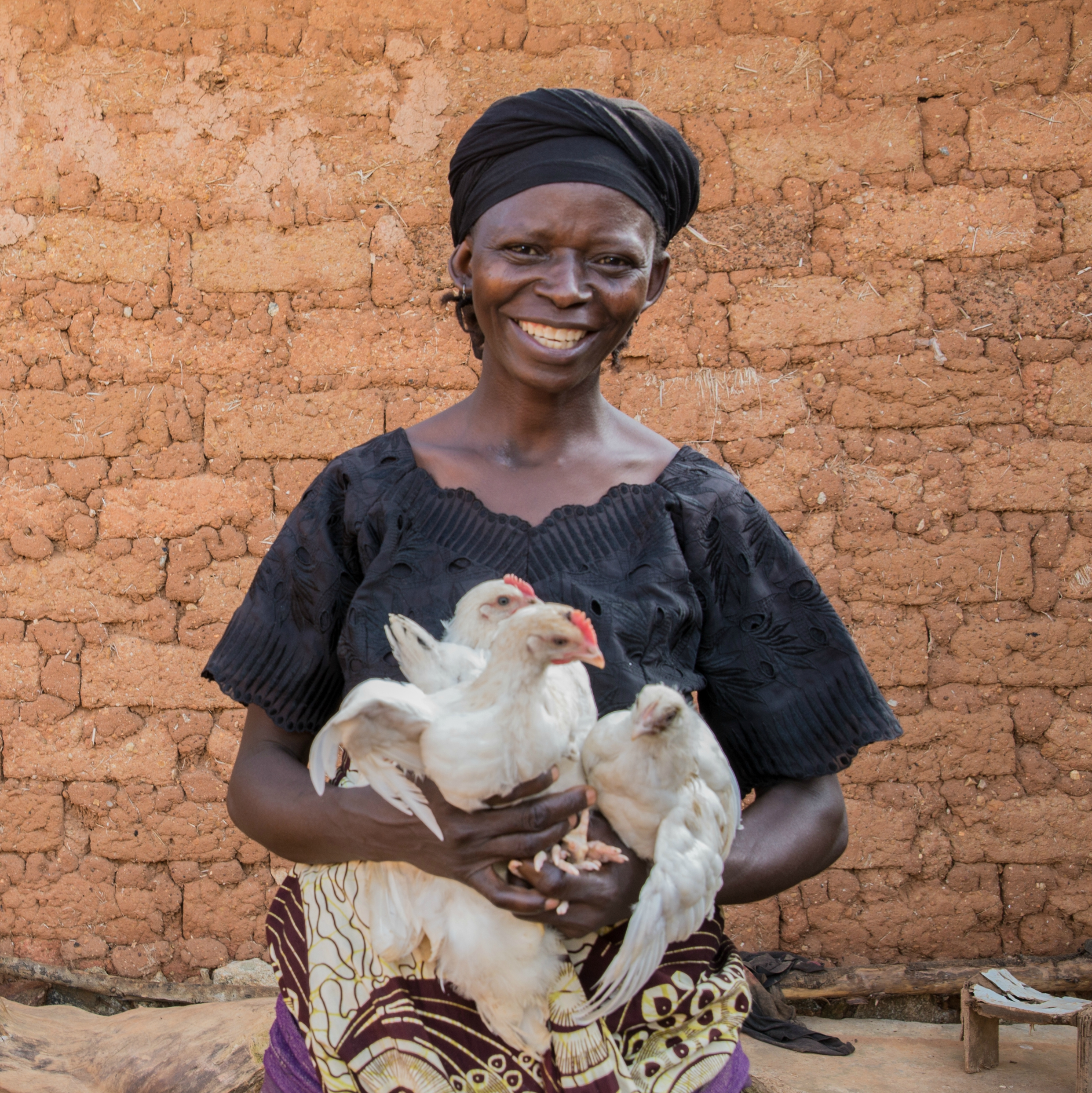"""Talatu graduated from our programme in Nigeria, """"The most important thing I learnt was about poultry keeping. I didn't know how to take care of the chicks and how to keep them healthy."""""""