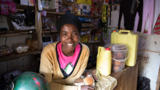 One of our Rwanda programme graduates, Clarisse, shares her inspiring story of beating the odds to become a successful businesswoman. Photo: Hazel Thompson