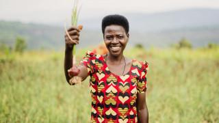 A member of cooperative formed by Women for Women International in Rwanda. Photo: Serrah Galos
