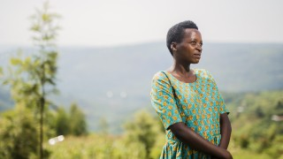 Marie Claire, Women for Women International - Rwanda programme graduate