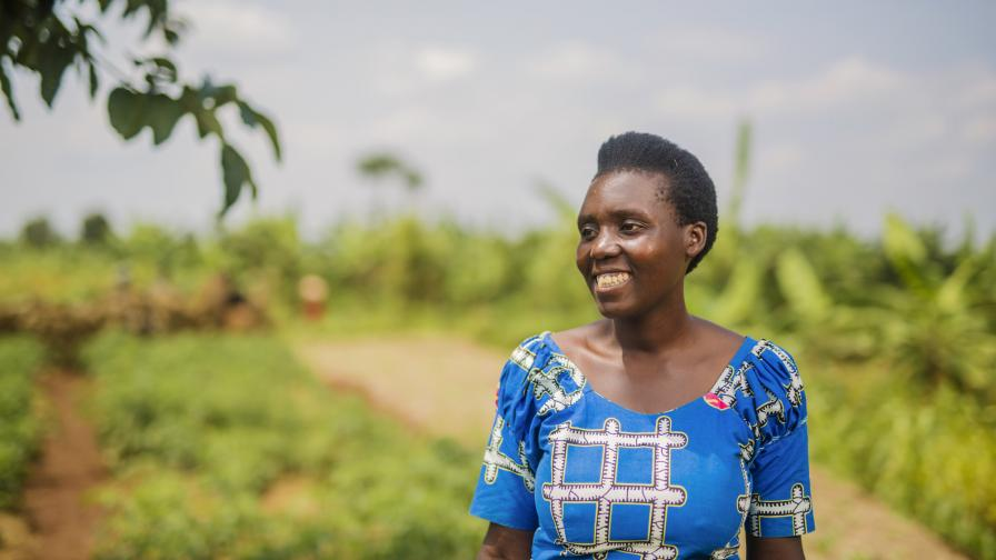 """Donata, Thomasina Miers' sponsor sister: """"I learned about how I can get health insurance for my family. In my savings group, we have a welfare fund. I took a loan from the fund to buy insurance for my family."""" Photo: Serrah Galos"""