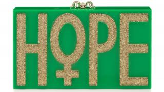 HOPE clutch designed by Charlotte Olympia
