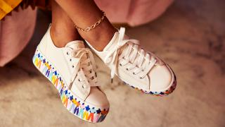 The Triple Up Rainbow People sneakers celebrate the strength and diversity of women. Photo: Keds