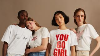 Each t-shirt brings to life the designers' own interpretation of women's empowerment and courage.