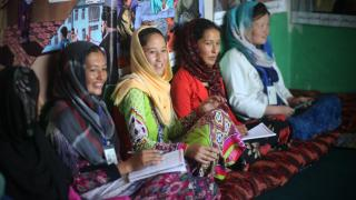 Participants in Afghanistan taking part in our year-long programme. Photo: Rada Akbar