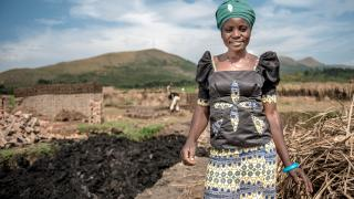 Cinama, a Women for Women International programme graduate in the DRC. Photo: Ryan Carter