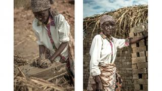 Cinama now trains women like Nankafu, pictured above, in brickmaking. Photo: Ryan Carter