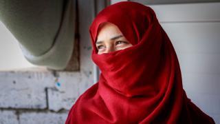 Raja Jidan Ali at her home in Debaga camp, Erbil, Iraq. Photo: Emily Kinsey
