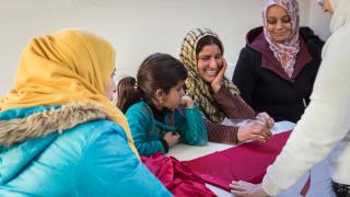 Sewing course at Sulaymaniyah Warvin Center in the Kurdistan Region of Iraq. Photo: Emily Kinsey