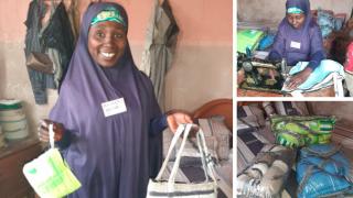 Hassana six months into the Women for Women International programme. Photo: Women for Women International.