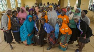 Brita with Women for Women International participants - Nigeria 2019.jpg