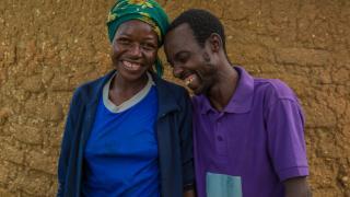 Biskilda Kupmwa Mercy and Sirwanga Biskitda Auta, participants in Women for Women International