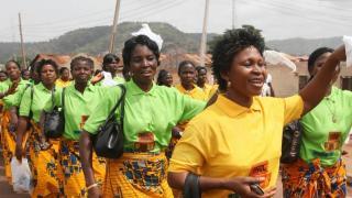 Women marching on International Women