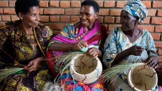 Programme participants in Rwanda