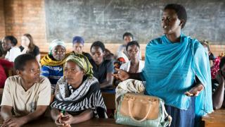 WOMEN for WOMEN International programme participants in a classroom