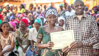 Husband and wife celebrate graduation - DRC - Ryan Carter