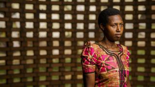 Francine fled to Burundi during the 1994 genocide in Rwanda. Before the genocide, she used to go to school.