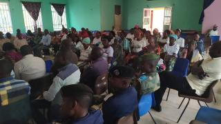 Community forums encourage open discussions about women's rights. Photo: Women for Women International