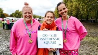 Shivonne, Aleks and Brita after completing the 2019 Royal Parks Half Marathon.