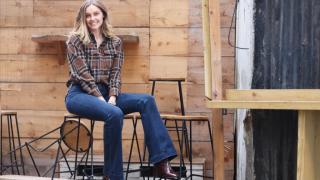 Victoria in her Stella McCartney jeans