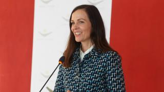 Brita at the Kosova Women 4 Women inauguration ceremony in February 2017.
