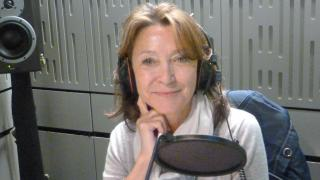 Cherie Lunghi recording the BBC Radio 4 Appeal.