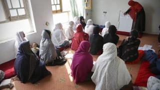 Women for Women International-Afghanistan participants attend a training session.