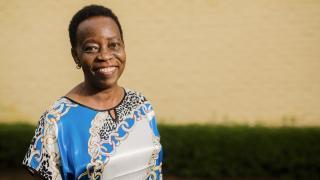 Clemence Bideri, our Economic Empowerment Manager at Women for Women International in Rwanda. Photo: Serrah Galos