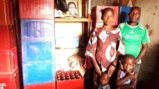 Sukari with her family. Photo: Women for Women International