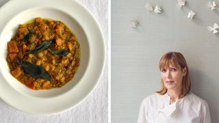 Skye Gyngell, is an Australian chef who is best known for her work as food editor for Vogue, and for winning a Michelin star at the Petersham Nurseries Cafe.