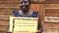 "Cizungo from DRC with her translated #MessageToMySister: ""You are not alone and forgotten."" Photo: Women for Women International"
