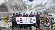 A team of nine adventurous women from Singapore and Europe embark on a two weeks trek to reach  Everest Base Camp at a staggering altitude of 5,364 m (17,598 ft.).