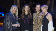 Amanda Wakeley, Elizabeth Hurley and Jo Manoukian with Executive Director Brita Fernandez Schmidt at #SheInspiresMe Dance 2019. Photo: Oliver Rudkin