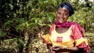 A Women for Women International programme participant in Democratic Republic of Congo. Photo: Ryan Carter