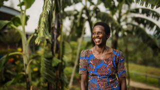 A Women for Women International programme participant in Rwanda. Photo: Serrah Galos