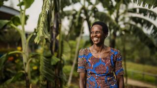 A Women for Women International programme participant in Rwanda. Photo: Serrah Galos